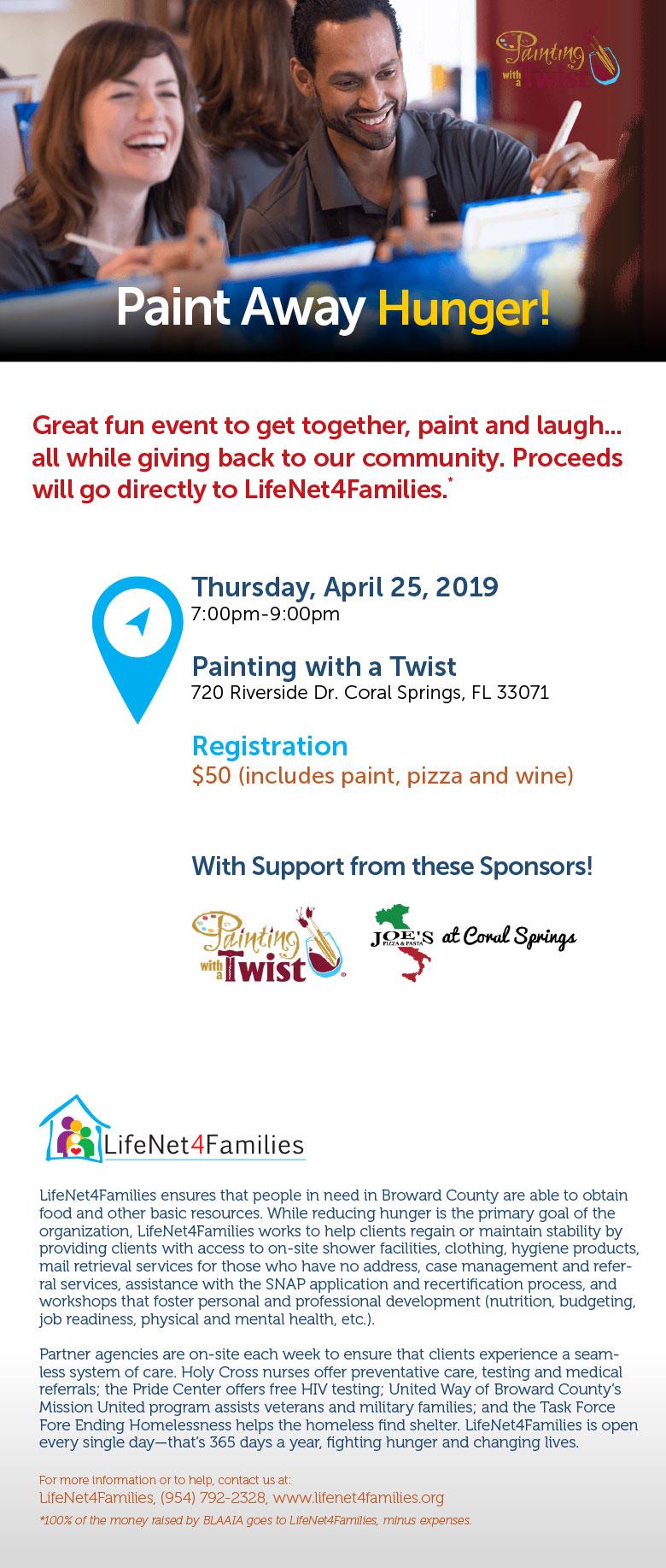2019 paint hunger away event