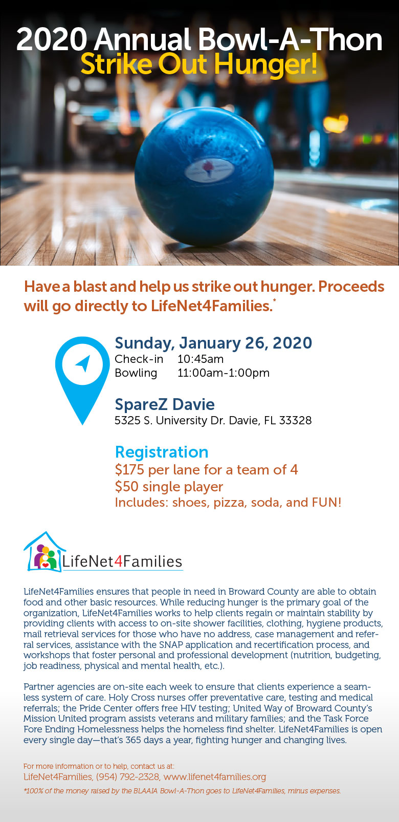 2020 bowling for hunger event